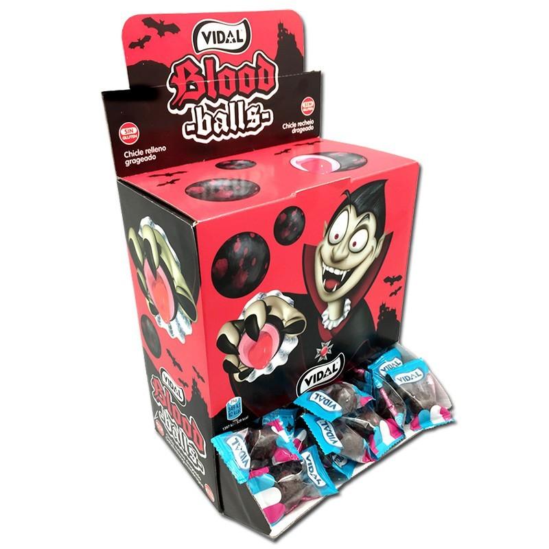 Vidal-Blood-Balls-Kaugummi-gefuellt-Bubble-Gum-200-Stueck