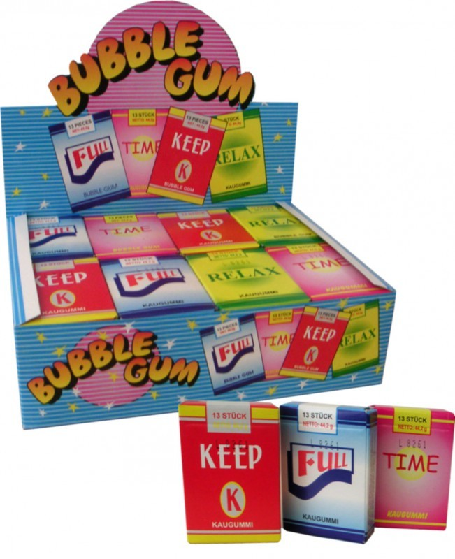 Kaugummi Sticks mit Rauch-Effekt, 24 Schachteln