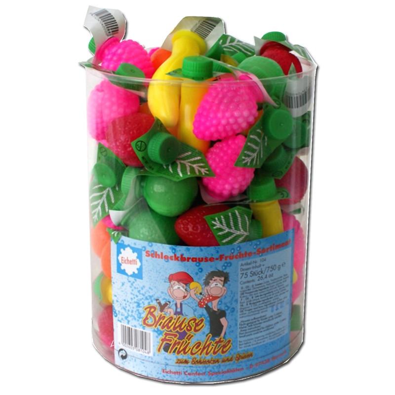 Brause-Früchte, Brausepulver, ca.75 Stück