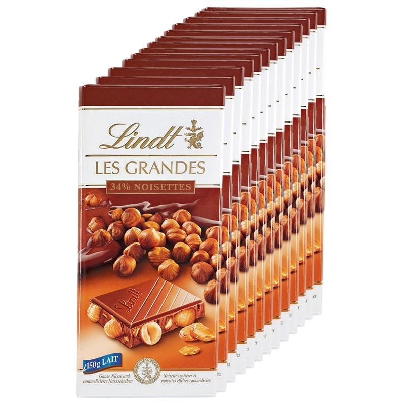 Lindt-Les-Grandes-Noisette-Lait-Schokolade-100g-13-Tafeln