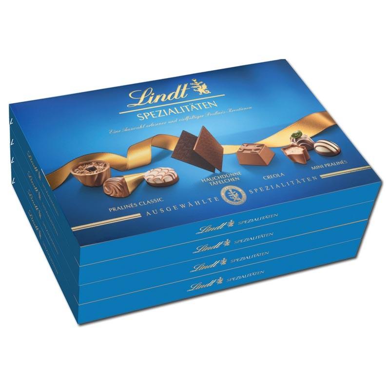 Lindt-Spezialitaeten-250g-Pralinenkomposition-4-Packungen