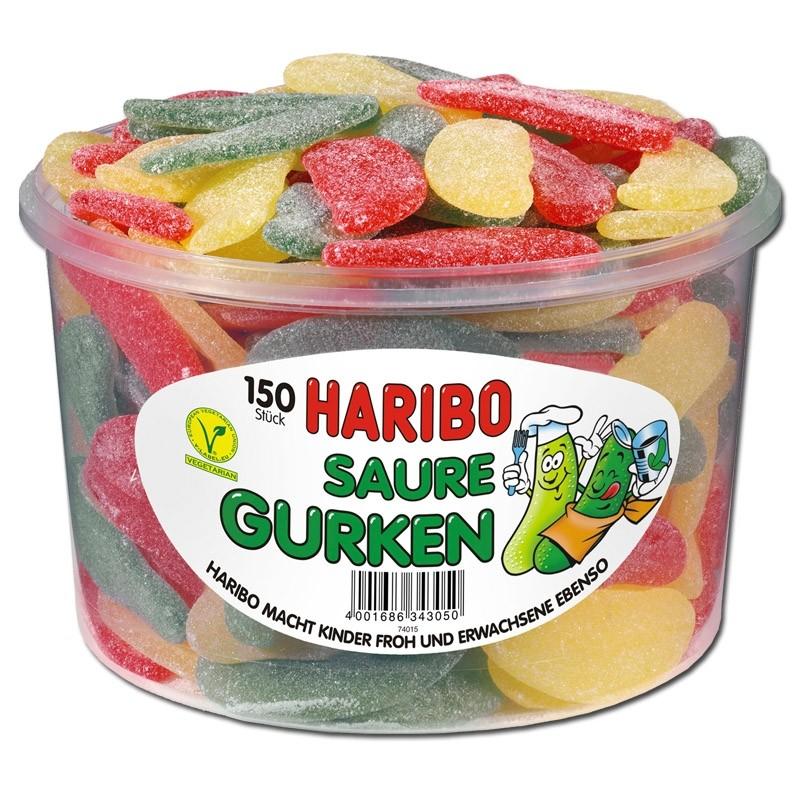 Haribo-Saure-Gurken-Fruchtgummi-sauer-150-Stueck