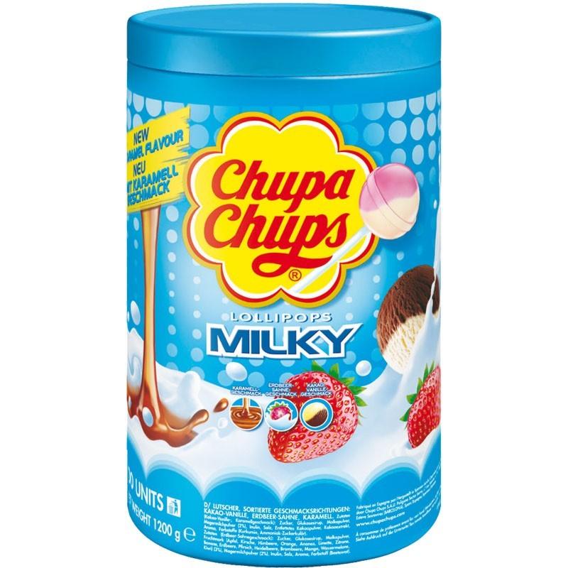 Chupa-Chups-Milch-Lutscher-Smooth-und-Creamy-100-Stueck