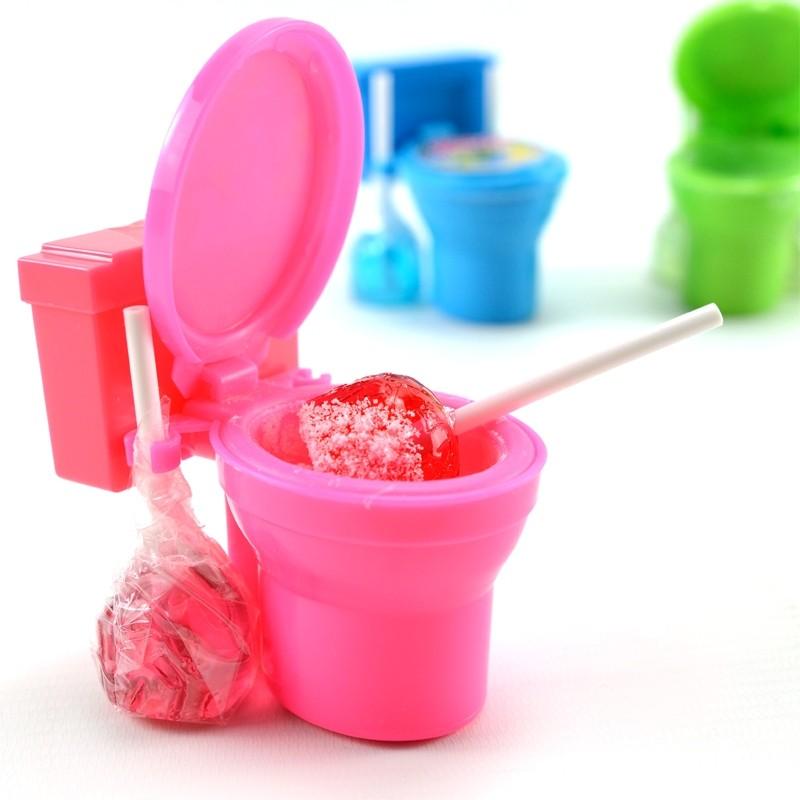 Toilette-Sour-Flush-Candypulver-Lutscher-Lolli-12-Stück